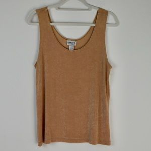 Chico's Travelers Tank in Tan | Size 3 (16-18; XL)